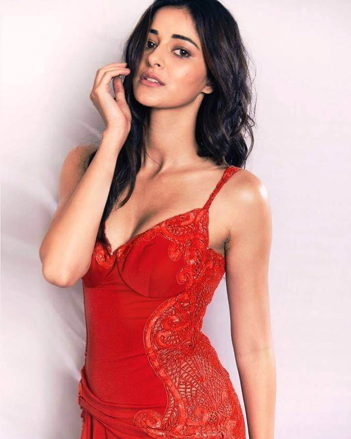 Ananya Panday In Red Dress