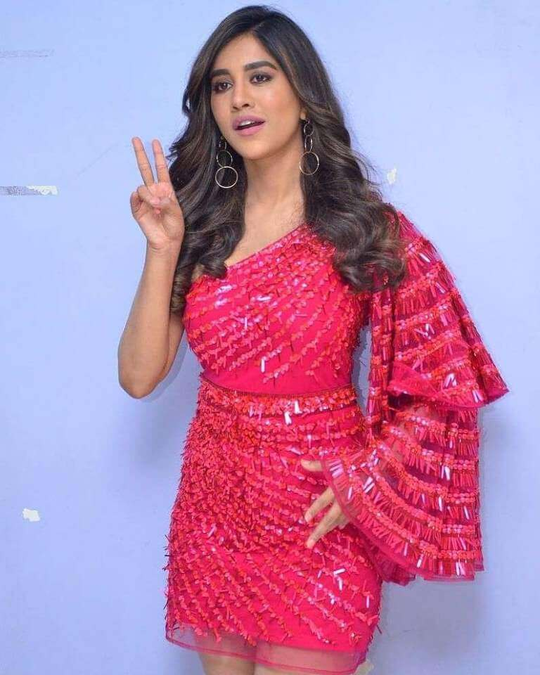 Nabha At Song Launch Event Of Disco Raja