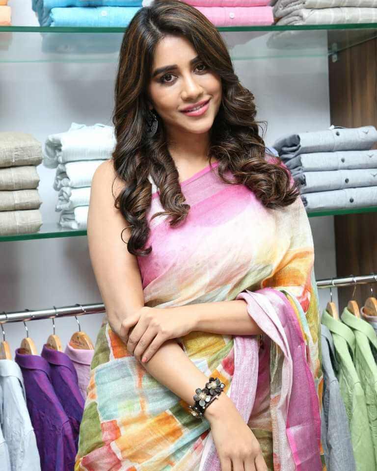 Nabha Natesh Images At 'Linen House' Store Launch At Nizampet