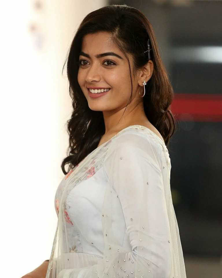 Rashmika Mandanna At Movie Promotions Of Sarileru Neekevvaru