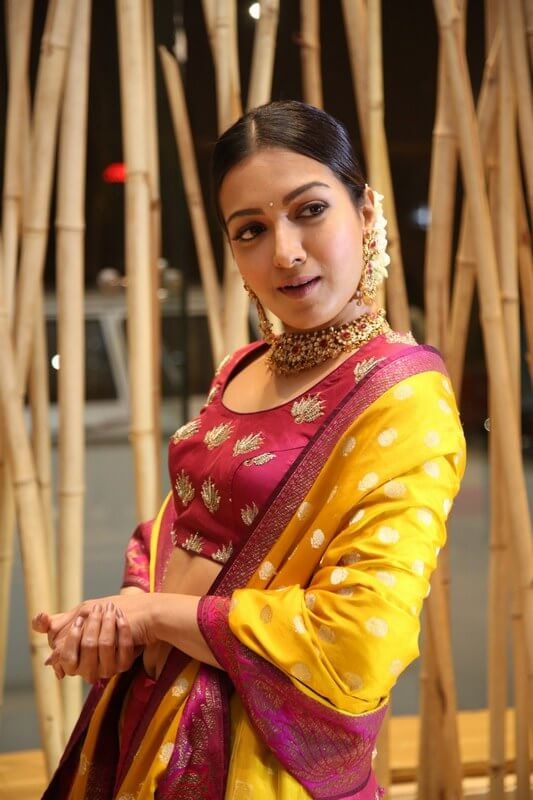 Catherine Tresa In Lehenga At World Famous Lover Pre-Release Event