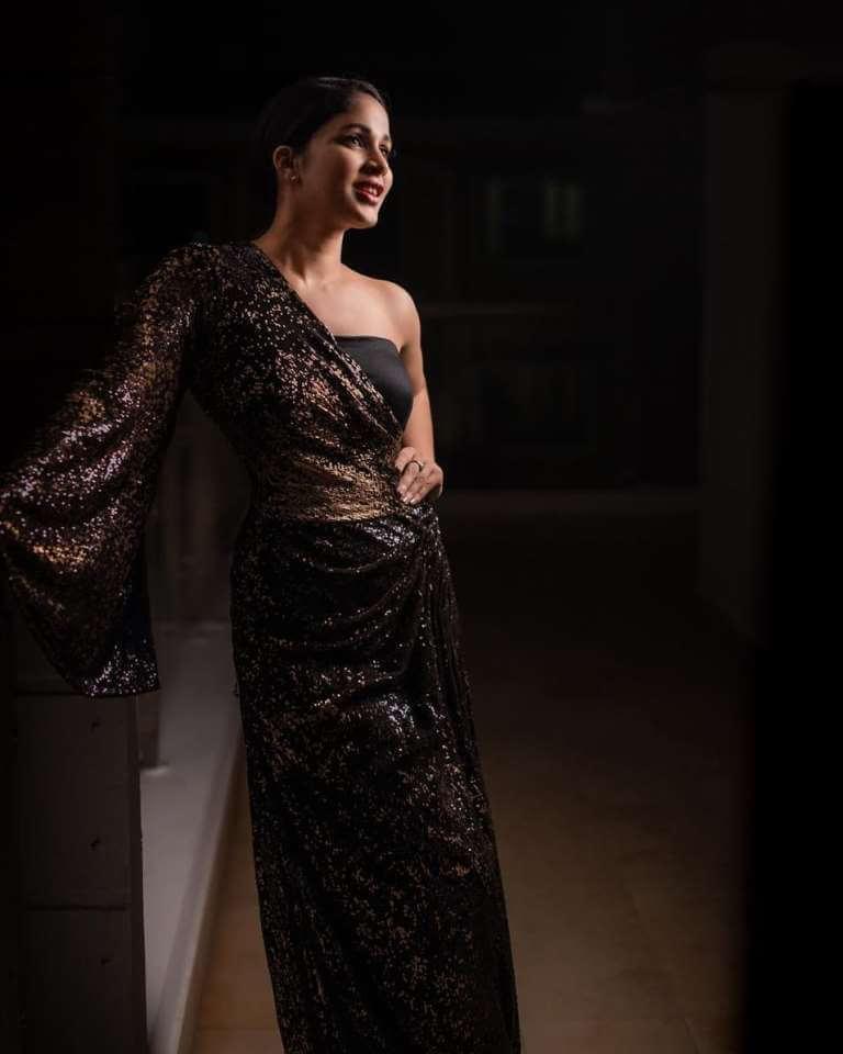 Actress Lavanya Tripathi Latest Photoshoot In Black Dress