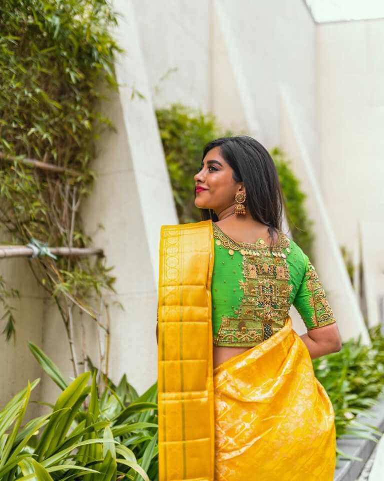 Nabha Natesh In Yellow Saree