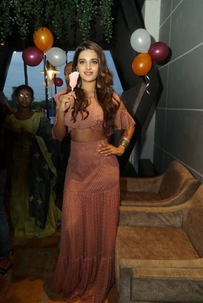 Nidhhi At Chocolate Room Launch