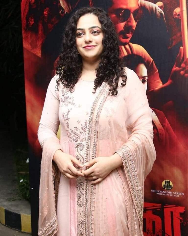 Nithya Menen In Churidar At Psycho Movie Success Meet