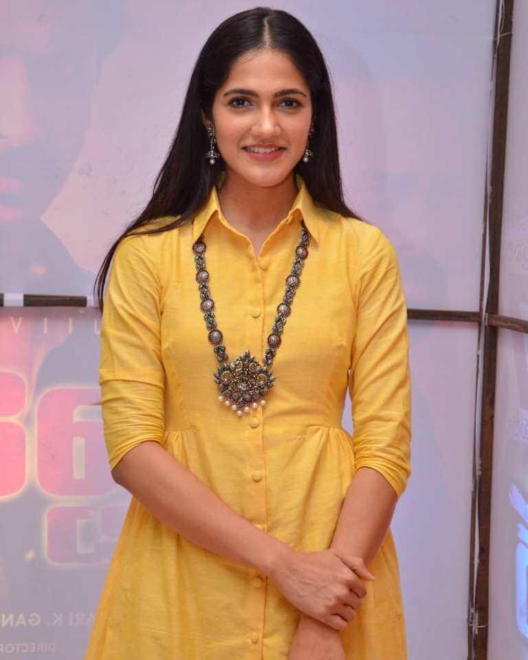 Simran Choudhary In Yellow Dress