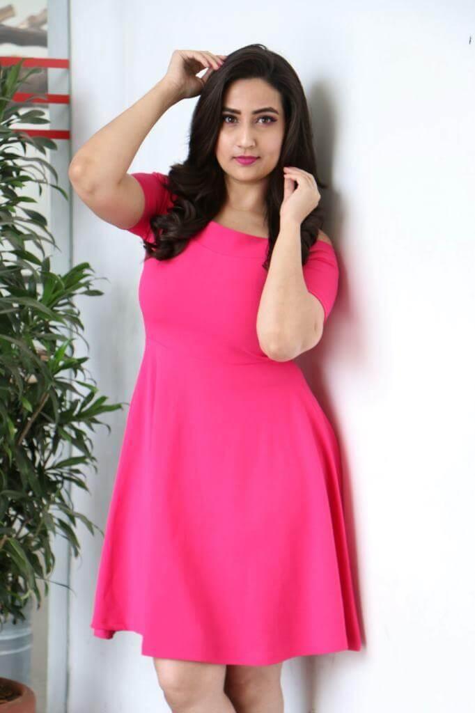 Manjusha At World Famous Lover movie promotions