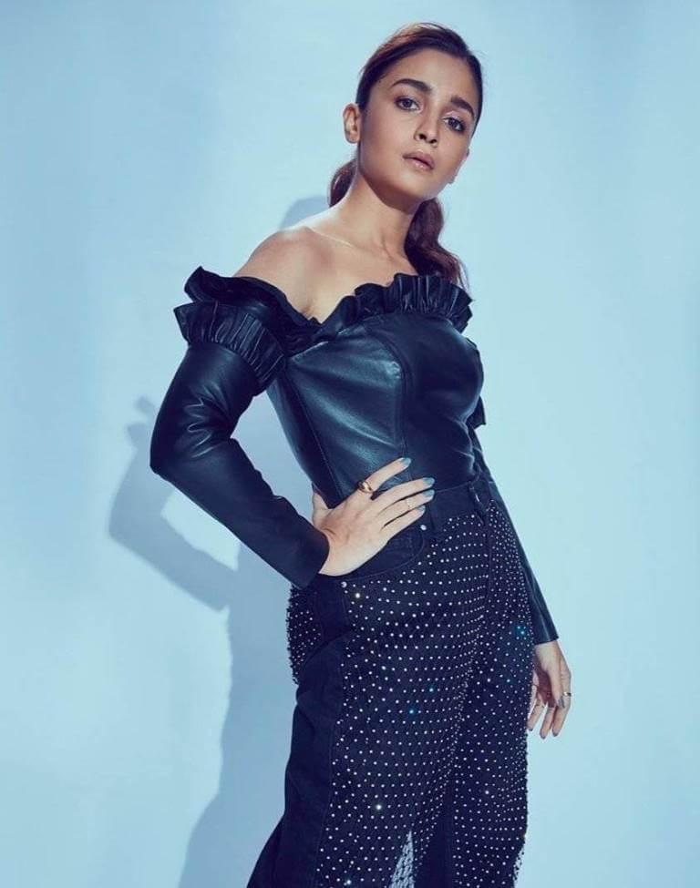 Alia Bhatt In Black Dress