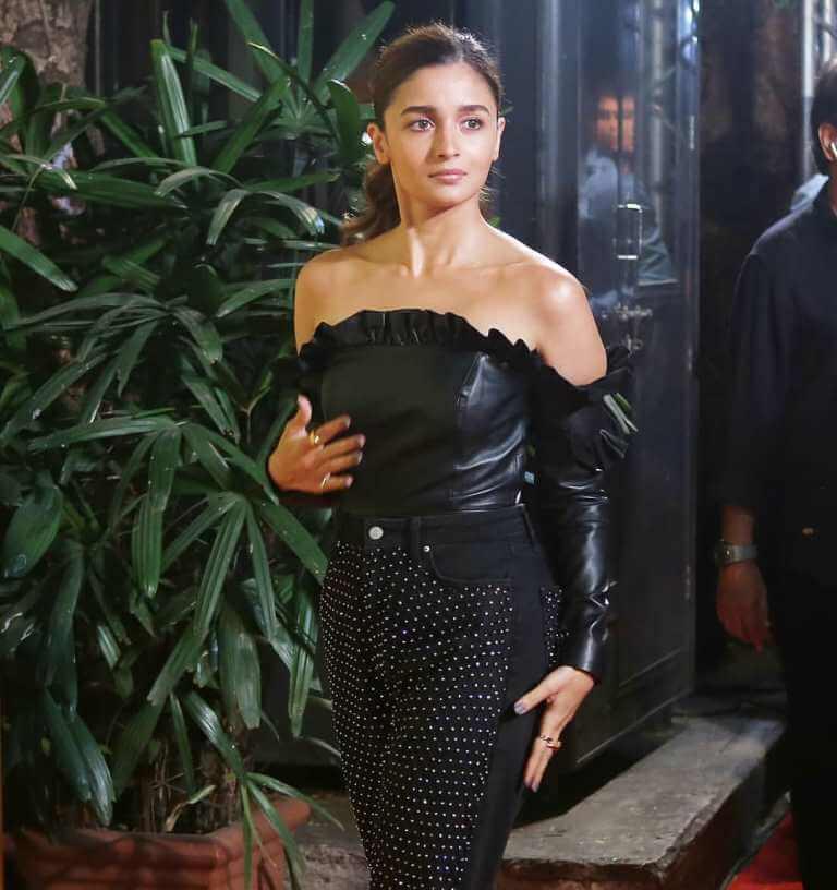 Alia Bhatt In Faux Leather dress