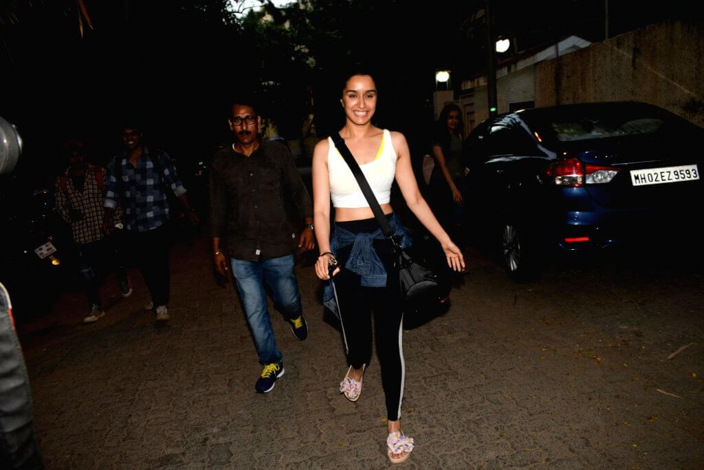 Heroine Shraddha Kapoor Hot Photos In Gym Dress