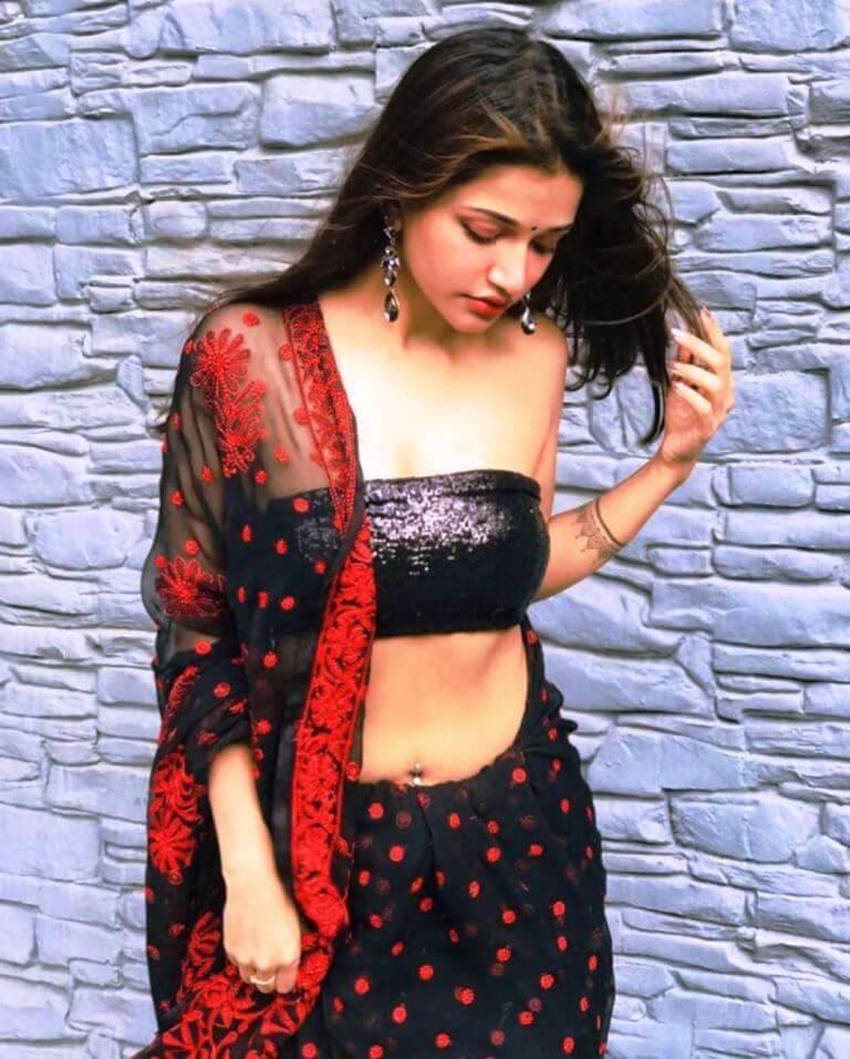 Hot Beauty Anaika Soti Photos In Black Lehenga - Actress Album