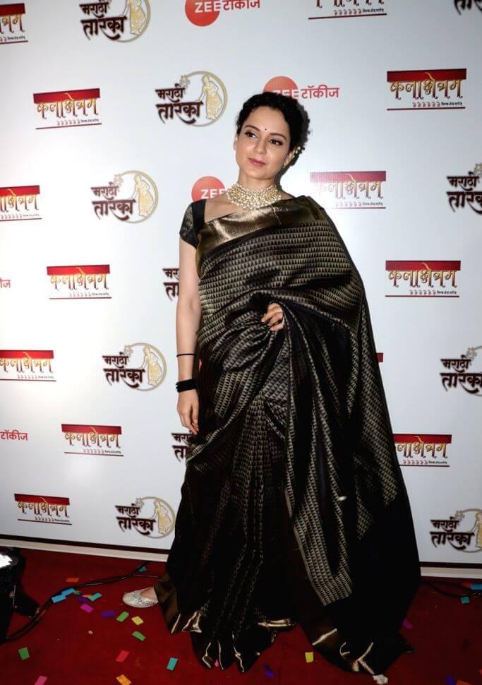 Kangana Ranaut In Black Saree