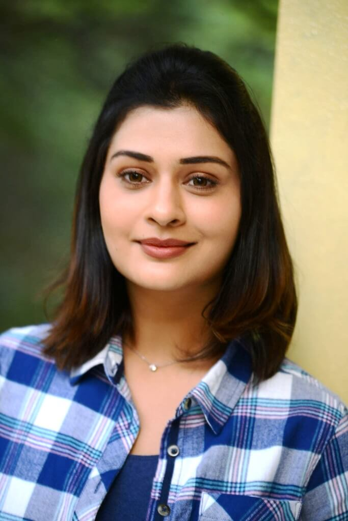 Payal Rajput Hot Pictures In Blue Checks Shirt