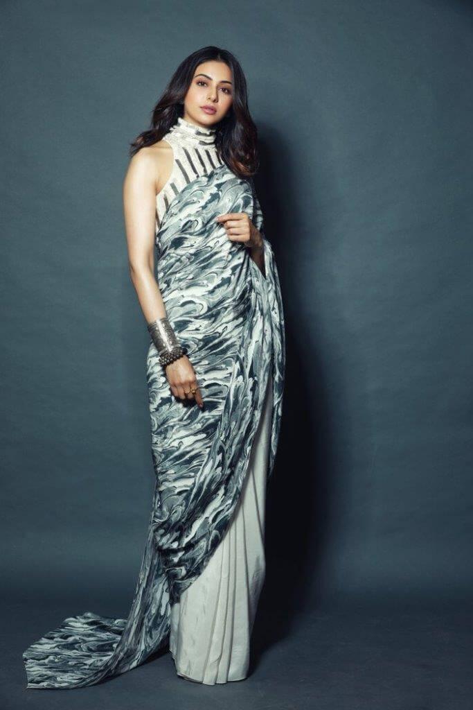 Rakul Preet Photos In Designer Saree
