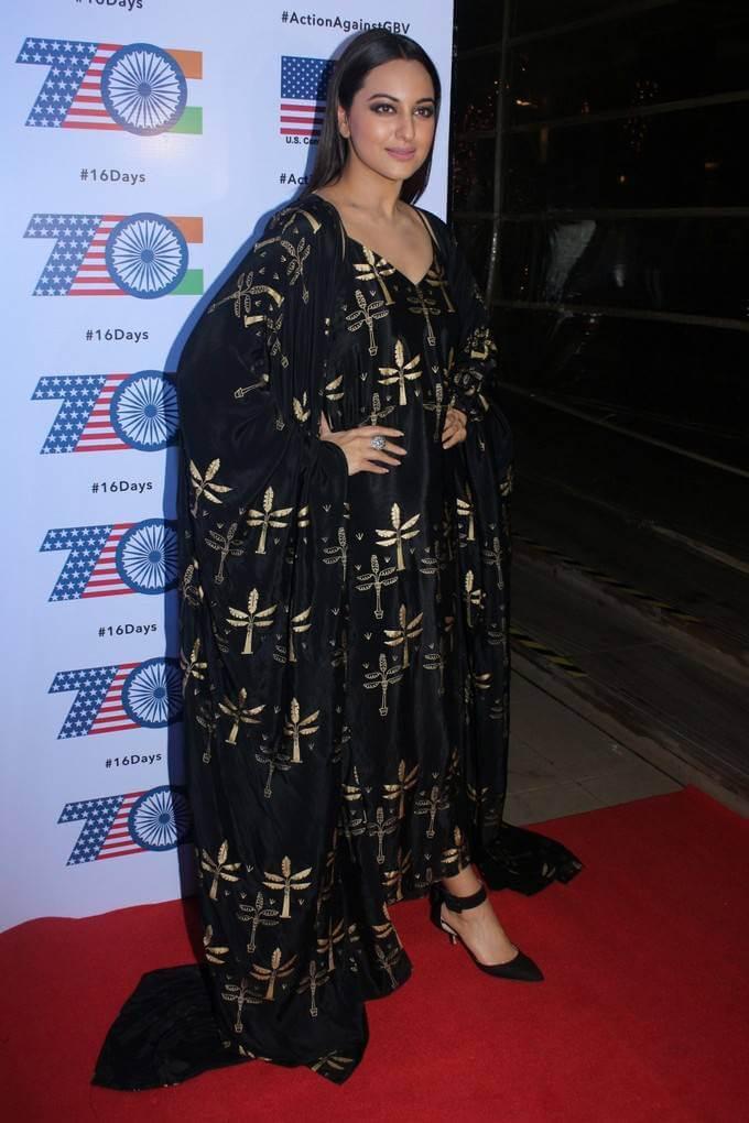 Sonakshi Sinha In Black Dress