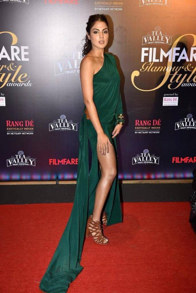 Actress Rhea Chakraborty At Filmfare Glamour and Style Awards