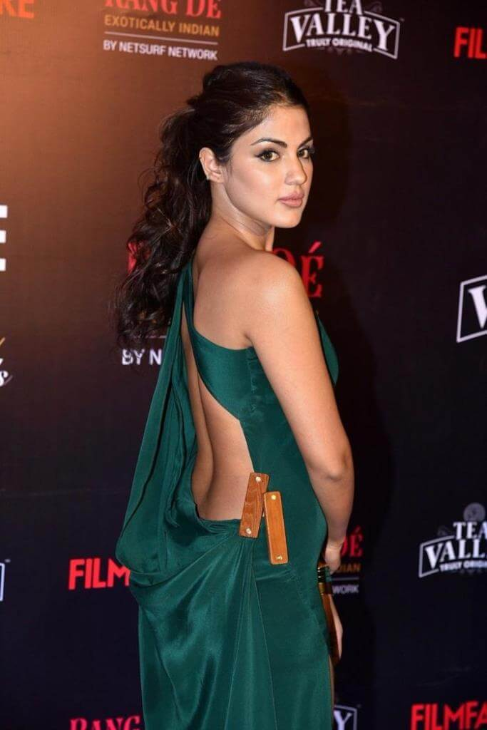Rhea Chakraborty In Green Dress