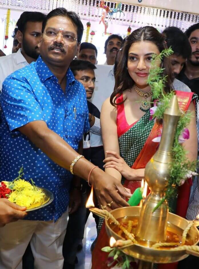 Kajal Aggarwal At Mangalya Shopping