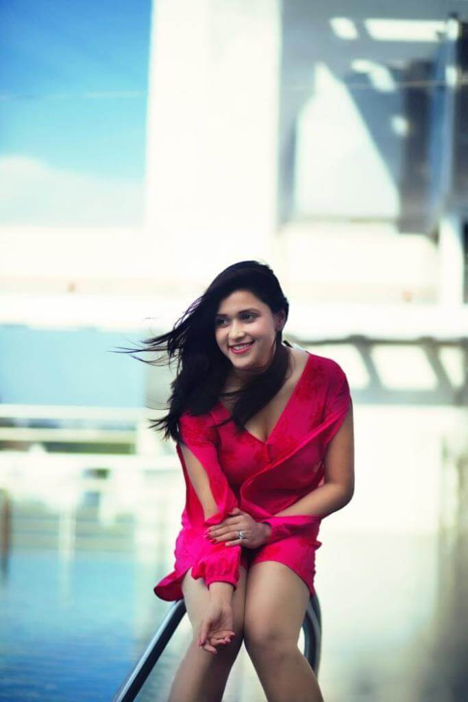 Mannara Chopra In Red Skirt