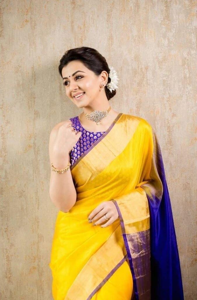 Nikki Galrani In Yellow Saree