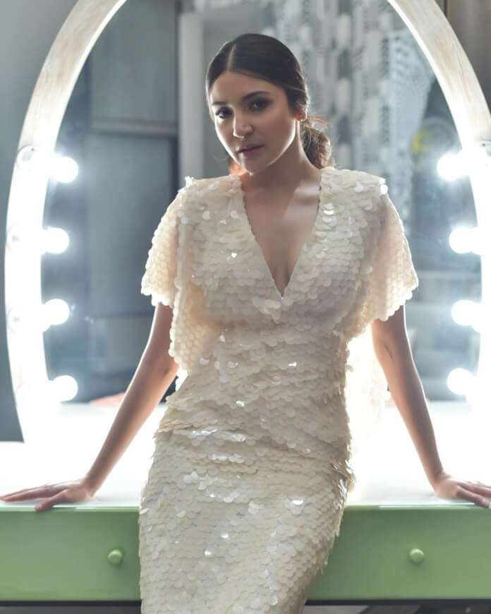 Anushka Sharma In White Sequin Dress