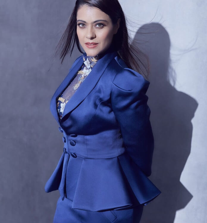 Kajol In Blue Suit