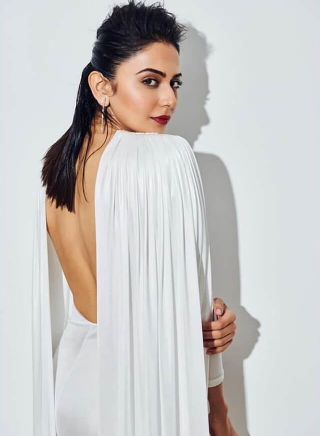 Rakul Preet Singh In White Dress