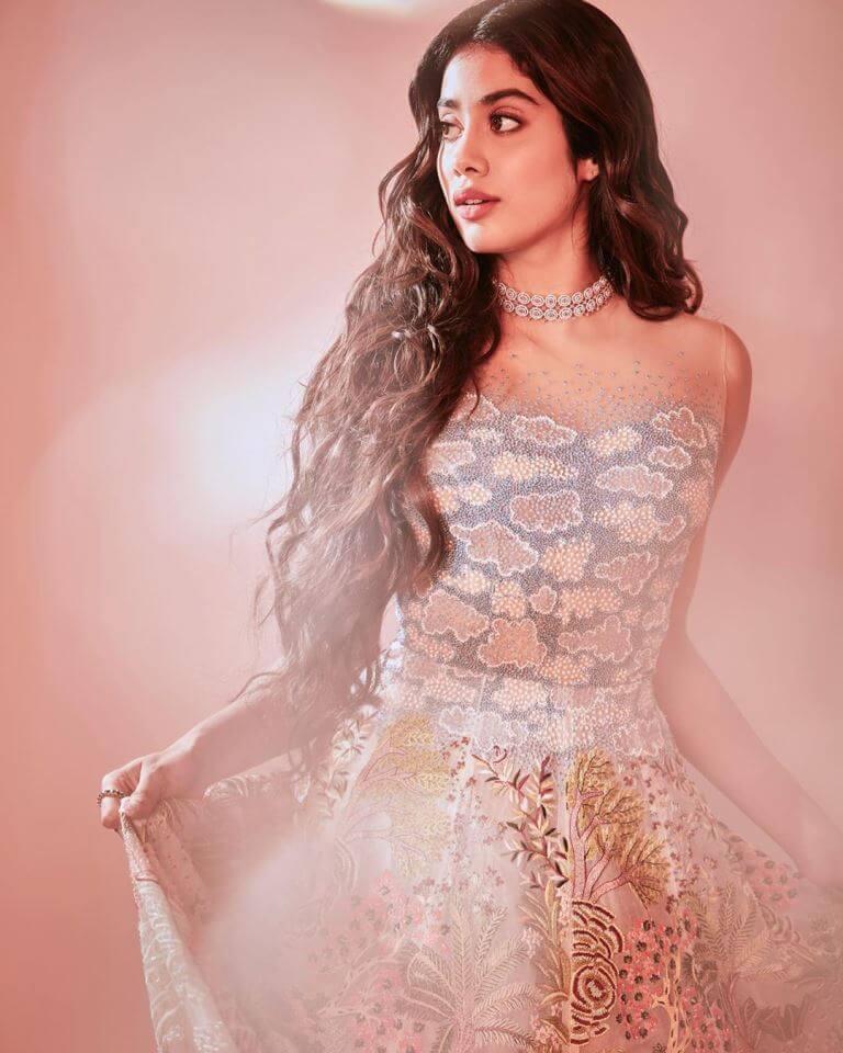 Sridevi Daughter Janhvi Kapoor Photos In Bridal Gown