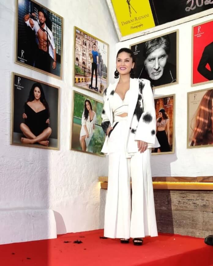 Sunny Leone In White Outfit For Dabboo Ratnani Calendar Photoshoot