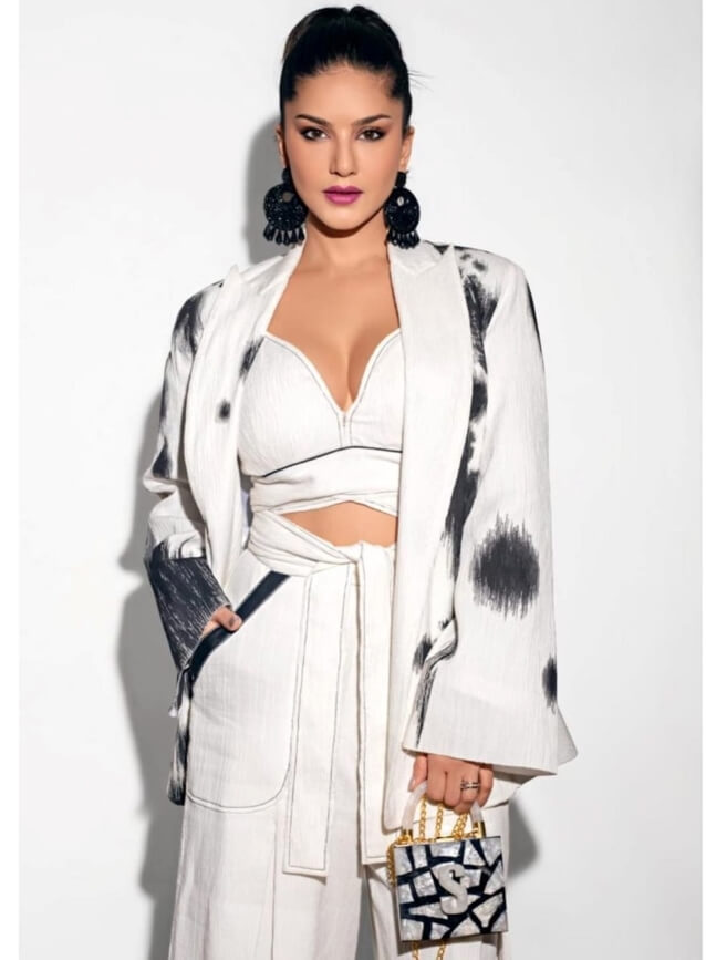 Sunny Leone In White Outfit