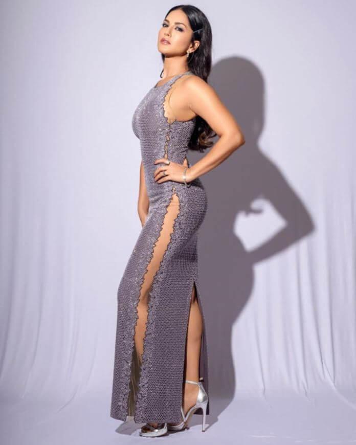 Sunny Leone In Silver Dress