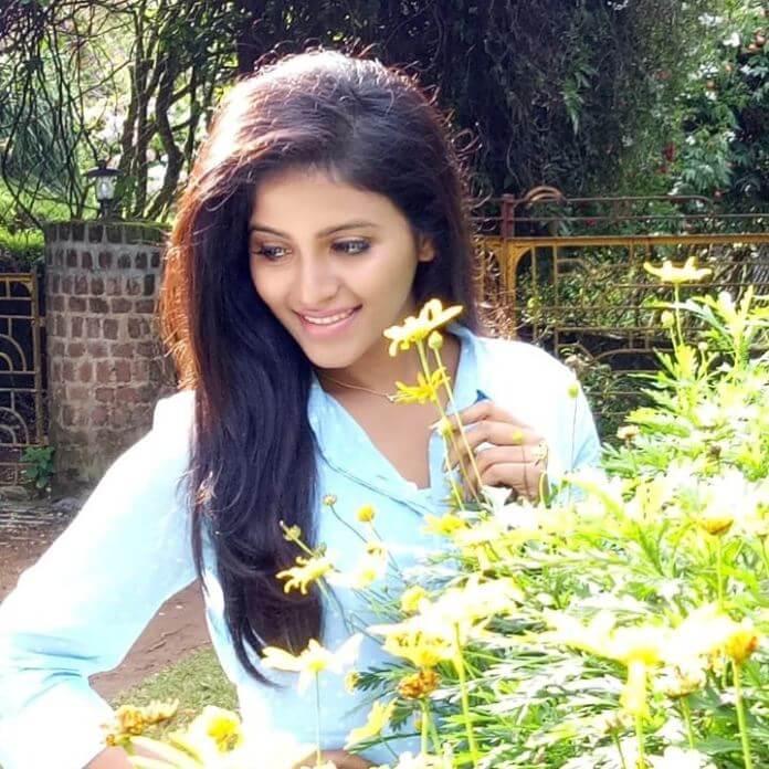 Anjali In Floral Dress