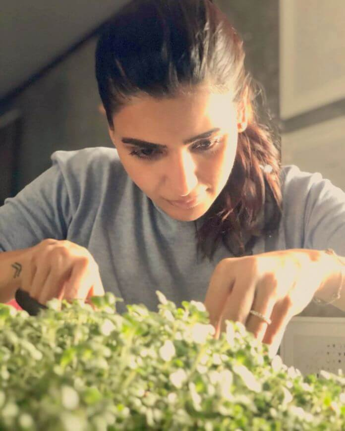 Samantha Akkineni Gardening Photos