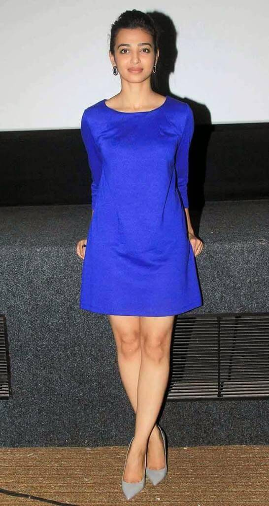 Radhika Apte Hot Stills At Hunterrr Movie Press Meet Function