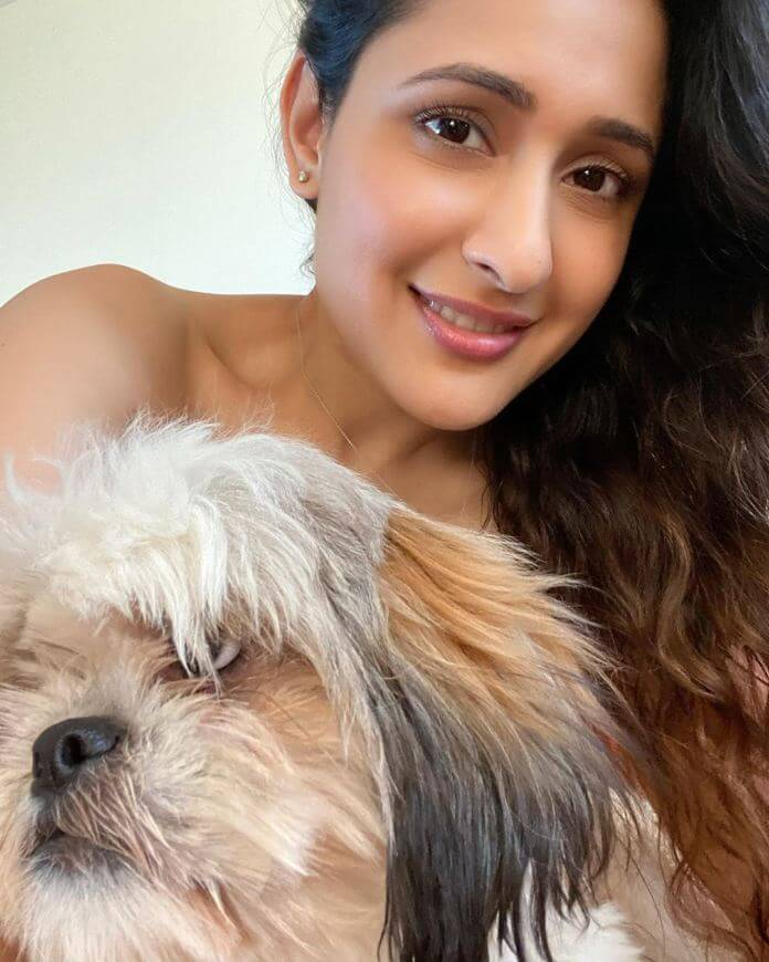 Pragya Jaiswal With Her Dog