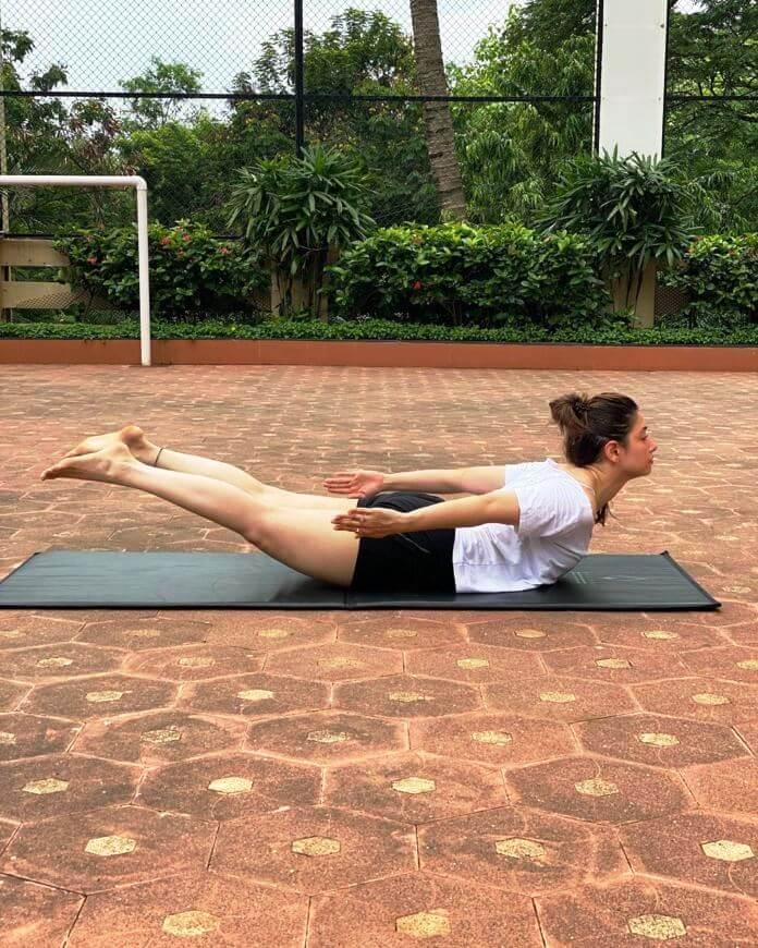 Heroine Tamanna Bhatia Yoga Poses