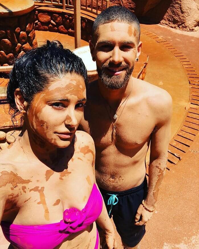 Nargis Fakhri Pictures In Bikini With Mud Bath
