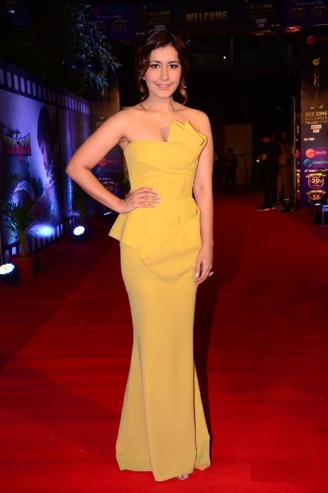Rashi Khanna In Yellow Dress