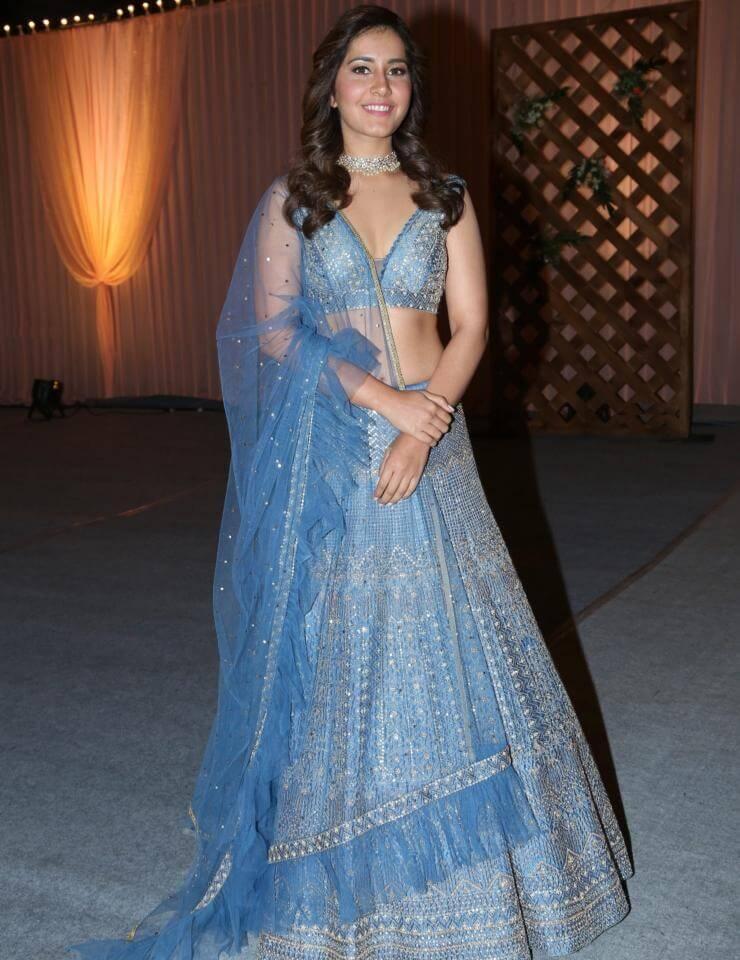 Rashi Khanna In Blue Lehenga