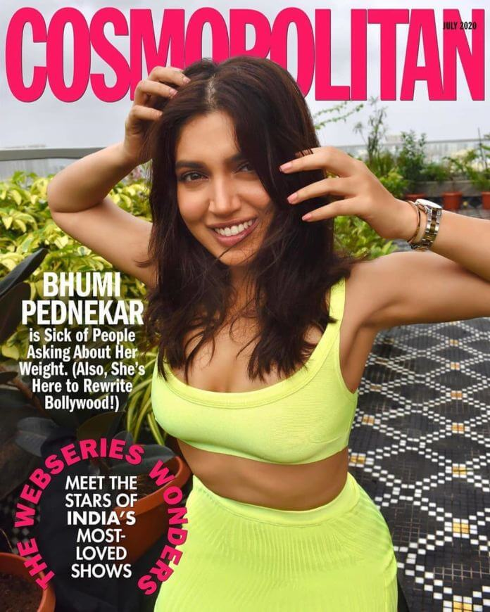 Bhumi Pednekar Hot Poses For Cosmopolitan Magazine Cover