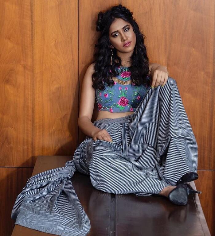 Heroine Nabha Natesh Photoshoot Stills In Saree