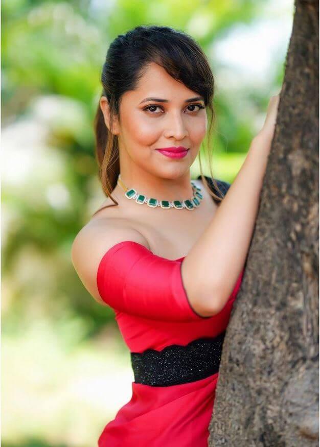 Anasuya In Beautiful Saree