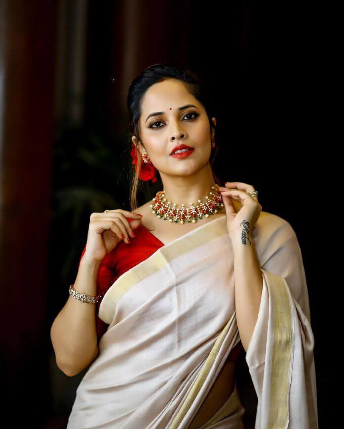 Anasuya Bharadwaj In Saree
