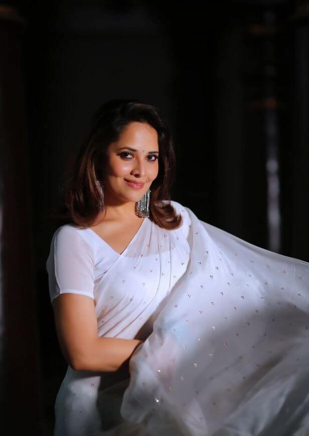 Telugu Hot Anchor Anasuya Bharadwaj At Jabarasth Show Shooting