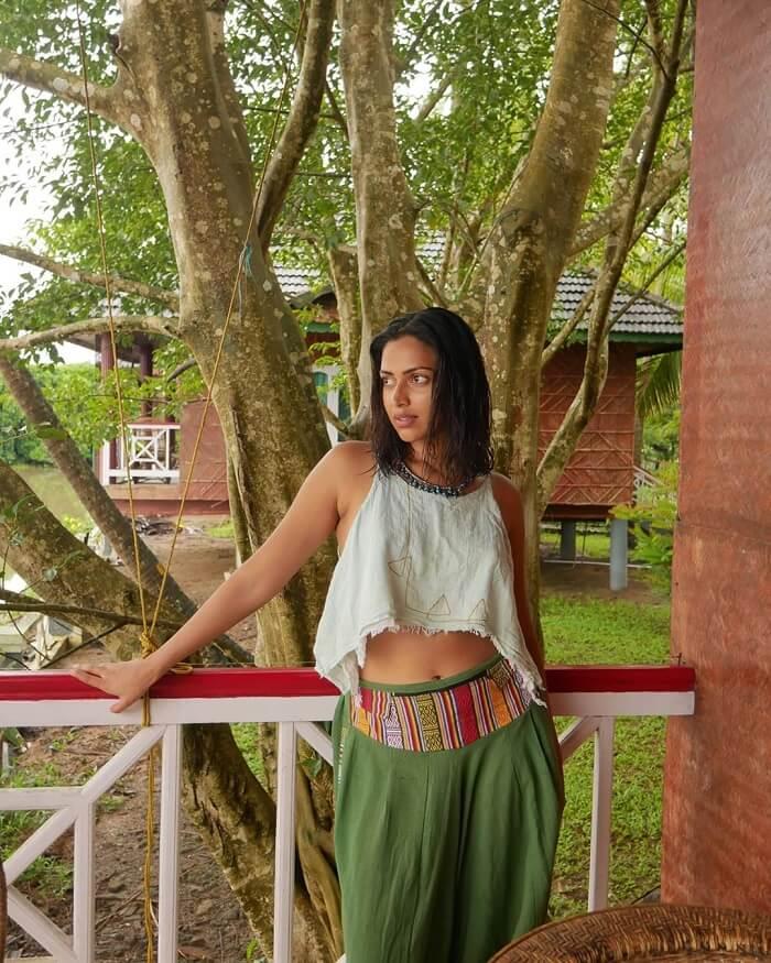 Amala Paul New Photos Shot At Her Garden