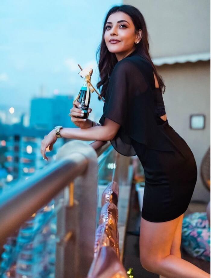 Kajal Agarwal Stylish Images Shot In Black Skirt