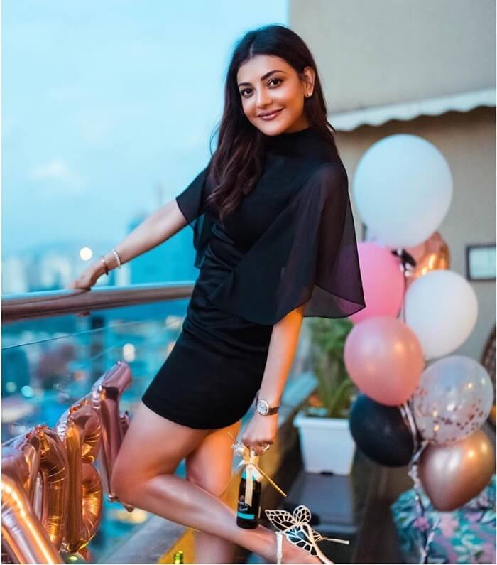 Kajal Agarwal In Black Skirt