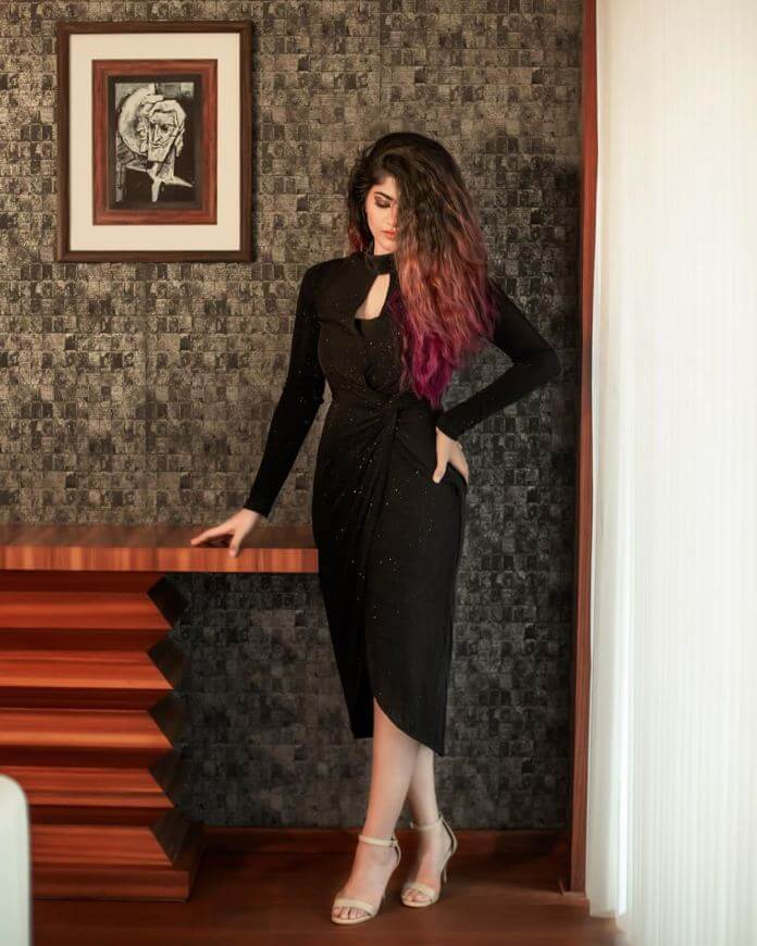 Megha Akash Exclusive Stills In Black Dress