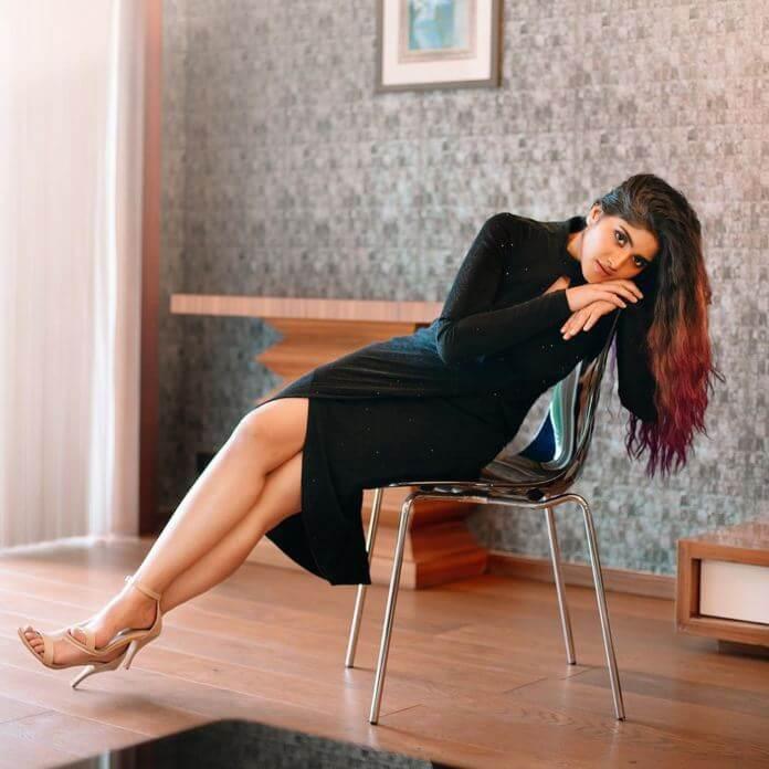 Megha Akash In Black Dress