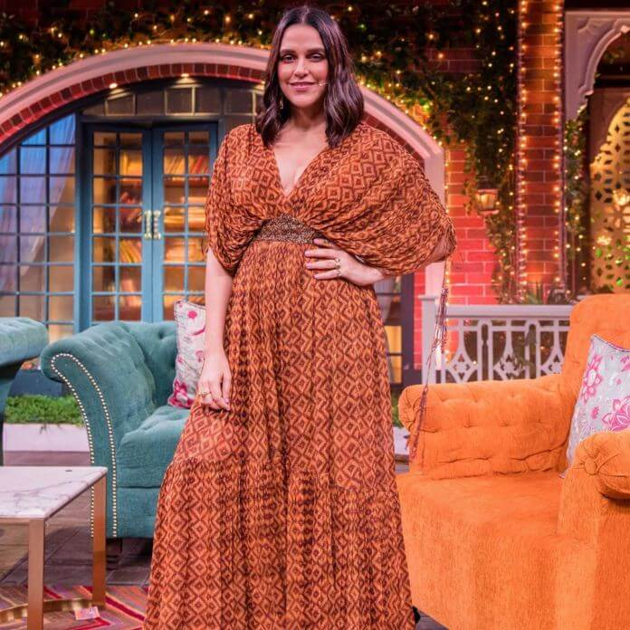 Neha Dhupia Glimpsed for the Kapil Sharma Show
